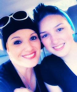 Chelle Martz with her daughter