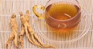 A cup of ginseng tea.